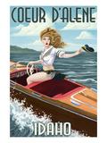 Coeur D'Alene  Idaho - Boating Pinup Girl