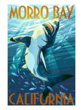 Morro Bay  California - Stylized Sharks