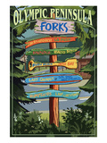 Forks  Washington - Sign Destinations