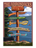 The Adirondacks - Adirondack State Park  New York State - Sign Destinations