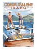 Coeur D'Alene  Idaho - Water Skiing Scene
