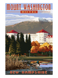 Mount Washington Hotel in Fall - Bretton Woods  New Hampshire