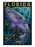 Tiger Shark Paper Mosaic - Florida
