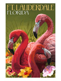 Ft Lauderdale  Florida - Flamingo Scene