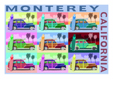 Monterey  California - Woodies Pop Art