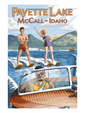 Payette Lake  McCall  Idaho - Water Skiing Scene