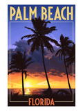 Palm Beach  Florida - Palms and Sunset