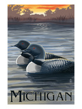 Michigan - Loons Scene