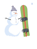 Snowman with Snowboard