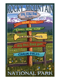 Rocky Mountain National Park  Colorado - Trail Ridge Road  Sign Destinations