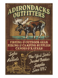The Adirondacks - Long Lake  New York State - Moose Outfitters