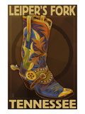Leiper's Fork  Tennessee - Cowboy Boot