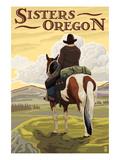 Sisters  Oregon - Cowboy on Horseback