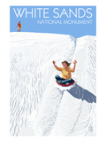 White Sands National Monument  New Mexico - Sledding on Sand