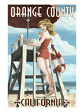 Orange County  California - Lifeguard Pinup