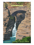 Watkins Glen State Park  New York - Entrance Cascade and Sentry Bridge