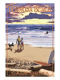 Hermosa Beach  California - Sunset Beach Scene
