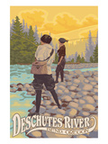 Deschutes River - Bend  Oregon - Women Fishing