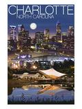 Charlotte  North Carolina - Skyline at Night