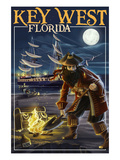 Key West  Florida - Pirate and Treasure