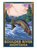 Boulder River  Montana - Fly Fishing Scene
