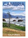 Cambria  California - Rocky Coastline