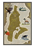 Vashon Island  Washington - Map