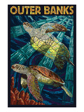 Outer Banks  North Carolina - Sea Turtle Mosaic