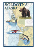 Soldotna  Alaska - Nautical Chart