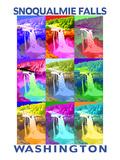 Snoqualmie Falls  Washington - Pop Art