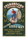 Shenandoah National Park  Virginia - Climb Stony Man