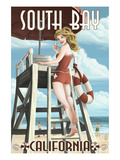 South Bay  California - Lifeguard Pinup