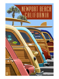 Newport Beach  California - Woodies Lined Up
