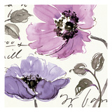 Floral Waltz Plum I Reproduction d'art par Pela