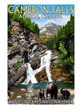 Waterton Lakes National Park  Canada - Cameron Falls and Bear Family