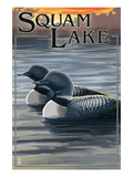 Squam Lake  New Hampshire - Loon Scene