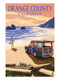 Orange County  California - Woody on Beach
