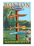 Boston  Massachusetts - Neighborhoods Sign Destinations