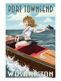 Port Townsend  Washington - Pinup Girl Boating