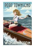 Port Townsend  Washington - Pinup Girl Boating