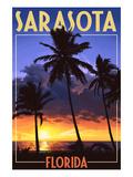 Sarasota  Florida - Palms and Sunset