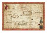 Wine Map Reproduction d'art par Daphne Brissonnet