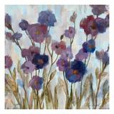 Abstracted Florals In Purple Giclée premium par Silvia Vassileva