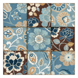 Patchwork Motif Blue