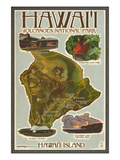 Map of Hawaii - Hawaii Volcanoes National Park