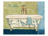 Blue Botanical Bath II