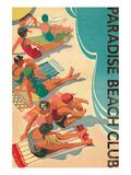 Paradise Beach Club Giclée premium par Hugo Wild