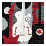 Rock 'n Roll Guitars Giclée premium par Michael Mullan