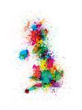 Great Britain UK Map Paint Splashes Reproduction d'art par Michael Tompsett