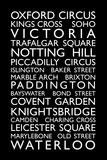 London Bus Roll (Bus Blind) Reproduction d'art par Michael Tompsett